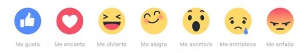 facebook botones reactions
